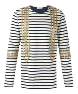 Ports   1961 Embellished Striped Sweatshirt