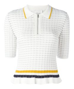 3.1 Phillip Lim | Knitted Polo Shirt Small Cotton/Spandex/Elastane