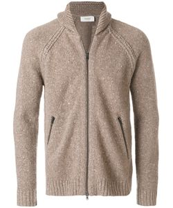 Pringle Of Scotland | Zipped Speckle Cardigan Men Cashmere/Lambs