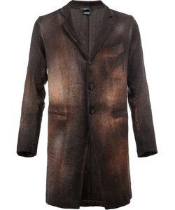Avant Toi | Buttoned Coat Xl Cotton/Linen/Flax/Polyamide/Cashmere