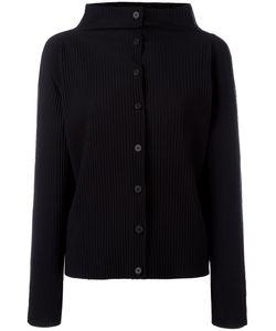 Issey Miyake Cauliflower | Ribbed Buttoned Jacket Polyester