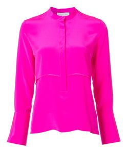 Nellie Partow | Concealed Button Blouse 10 Silk