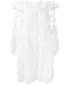 Alberta Ferretti | Lace Off-The-Shoulder Dress