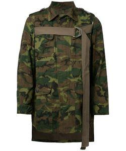 Maison Mihara Yasuhiro | Camouflage Print Asymmetric Jacket 48