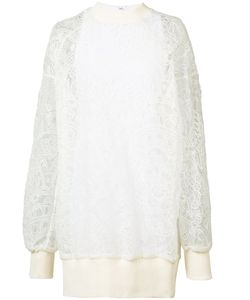 Vera Wang | Pullover Dress With Slip 0 Cotton/Silk/Nylon
