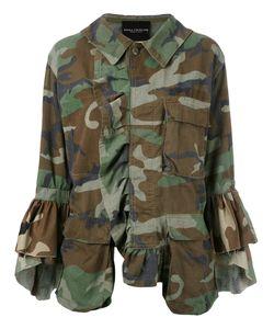 Erika Cavallini | Dislocated Fastening Camouflage Jacket