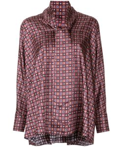 ASTRAET | Tile Print Blouse Women One