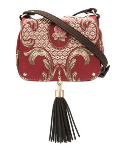 Xaa | Embroide Crossbody Bag Leather/Silk