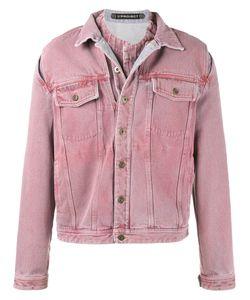 Y / PROJECT   Overdye Denim Jacket With Removable Denim Undershirt