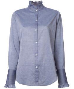 Nili Lotan | Pleated Collar Shirt Small Cotton