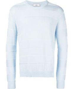Ami Alexandre Mattiussi | Tonal Stripe Crew Neck Sweater Small