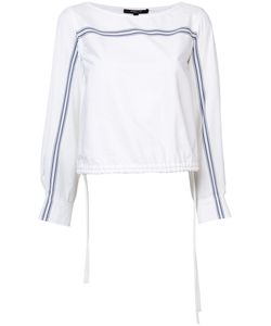 Derek Lam | Flared Sleeves Drawstring Blouse