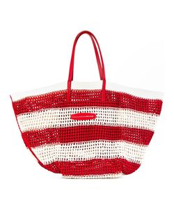 Ermanno Scervino | Striped Tote Cotton/Leather/Viscose