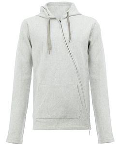 TAICHI MURAKAMI | Asymmetric Zip Hoodie 8 Cotton/Stainless Steel