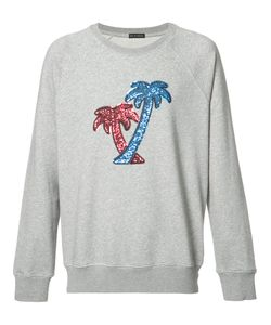 Marc Jacobs | Sequin Embroide Palm Tree Sweatshirt Small
