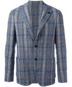 Lardini | Checked Blazer 56 Cotton/Linen/Flax/Viscose/Polyester