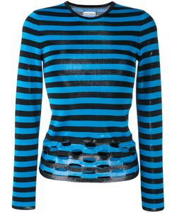 Paco Rabanne | Perforated Striped Jumper