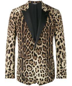 Dolce & Gabbana | Leopard Print Blazer Size 52 Silk/Polyester/Virgin