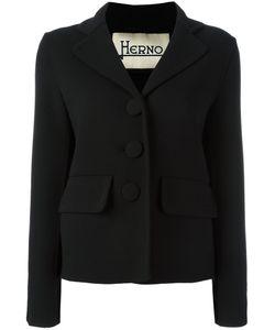 Herno | Three-Button Blazer 42 Spandex/Elastane/Viscose/Virgin Wool
