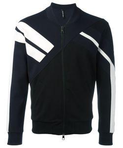 Neil Barrett | Stripe Contrast Bomber Jacket Size Xs Viscose/Lyocell/Cotton/Spandex/Elastane