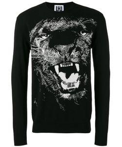 Les Hommes Urban | Lion Print Sweatshirt Large Cotton