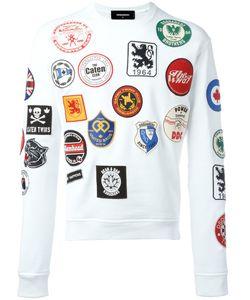 Dsquared2   Logo Patch Print Sweatshirt Xl Cotton