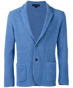 Lardini | Textured Two-Button Blazer L