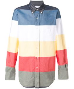 Thom Browne | Classic Long Sleeve Shirt In Multi-Colored Stripe Oxford