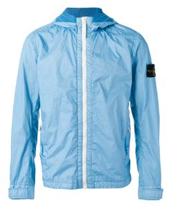 Stone Island | Zipped Hooded Jacket Large Polyurethane Resin/Polyamide