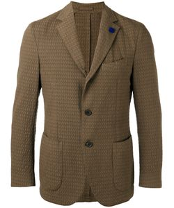 Lardini | Notched Lapel Patterned Blazer