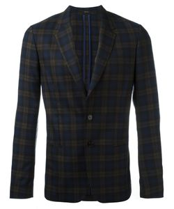 Paul Smith | Checked Blazer Jacket 52 Silk/Cupro/Wool
