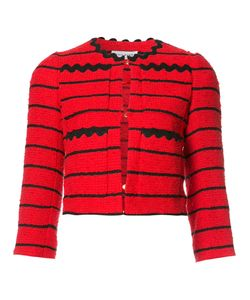 Sonia Rykiel | Striped Cropped Jacket 34 Cupro/Cotton/Acrylic/Polyamide
