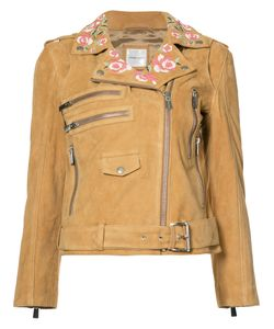 ANINE BING | Embroidered Biker Jacket