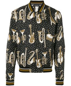 Dolce & Gabbana | Instrument Print Bomber Jacket