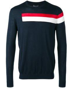 Emporio Armani   Striped Jumper Large Silk/Cotton/Viscose