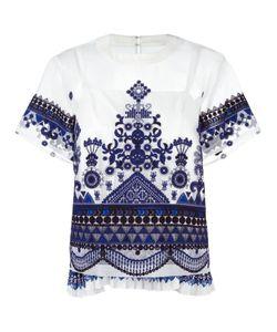 Sacai | Tribal Lace Organza Top 1 Polyester/Cotton