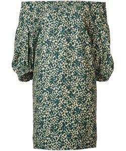 Sonia Rykiel | Patterned Off-Shoulders Dress Size 38