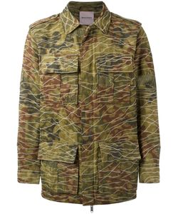 PALM ANGELS | Camouflage Print Military Jacket Size 46