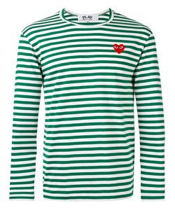 Comme des Gar ons Play | Comme Des Garçons Play Logo Stamp Striped Top Size Large