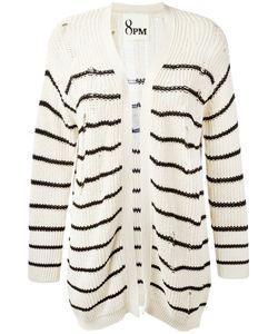 8pm | Distressed Stripe Cardigan Xs