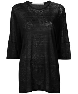 Isabel Benenato | Three-Quarters Sleeve Sheer T-Shirt 40