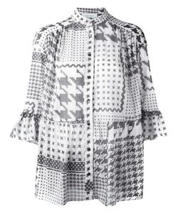Iro | Houndstooth Print Shirt Medium Cotton
