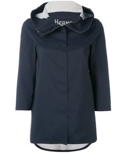 Herno   Three-Quarters Sleeve Hooded Jacket Size 40