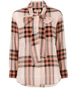 Burberry | Клетчатая Рубашка С Завязками На Шее