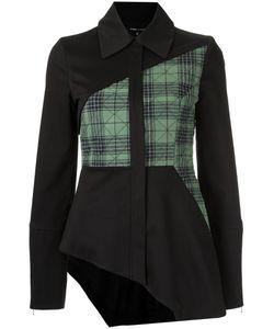 GLORIA COELHO | Asymmetric Panelled Jacket 38 Leather/Spandex/Elastane