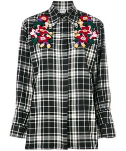 AKEP | Embroidered Plaid Shirt Women