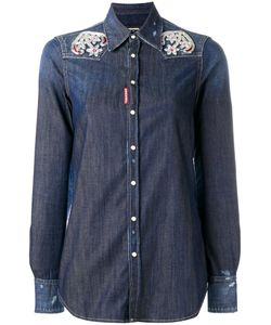 Dsquared2 | Embroide Anchor Western Shirt 44 Cotton/Spandex/Elastane