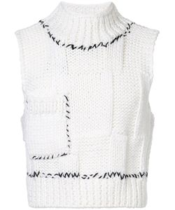 Raf Simons | Cropped Knitted Sweater Vest Men