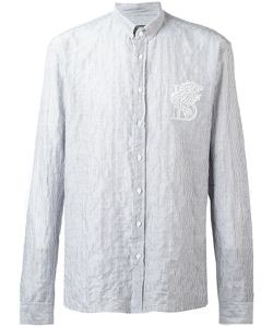 Balmain | Lion Pinstriped Shirt 39 Cotton