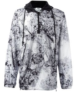 MSGM | Marble-Effect Hooded Windbreaker 46 Polyester/Polyamide